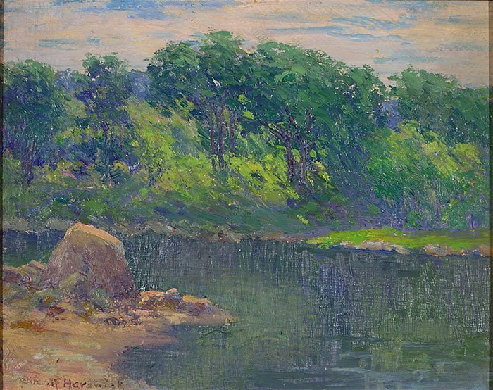"Alice Roney Hardwick O/CB, landscape, 7 5/8"" x 9 1/2"" - 2"
