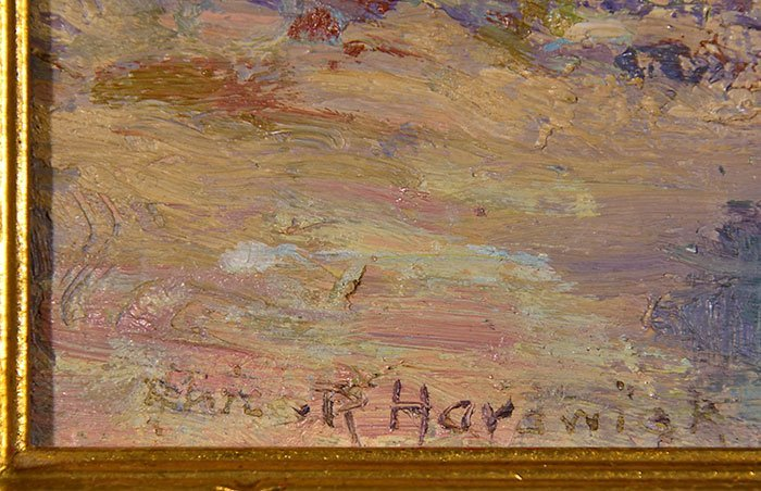 "Alice Roney Hardwick O/CB, landscape, 7 5/8"" x 9 1/2"" - 3"