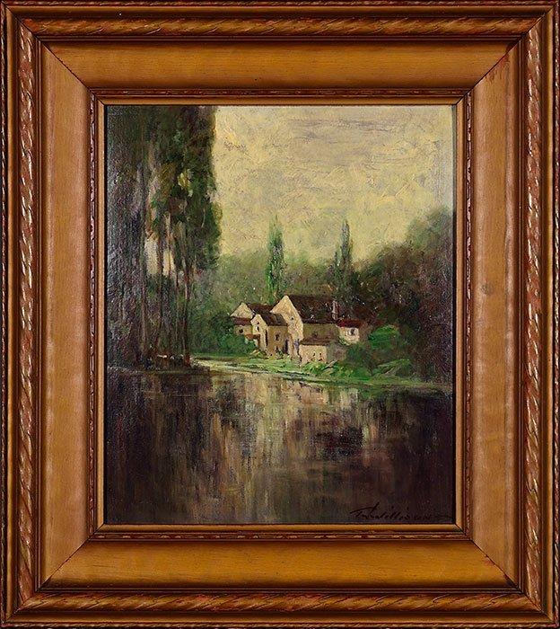 """3 T.J. Willison Oils on Board, landscapes, 8' x 14"""""""
