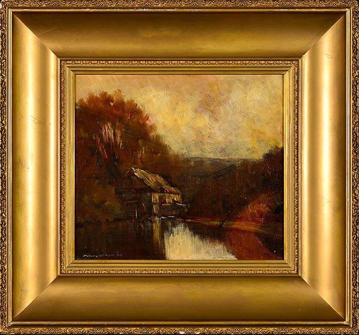 """3 T.J. Willison Oils on Board, landscapes, 8' x 14"""" - 2"""