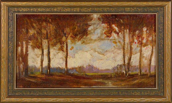 """3 T.J. Willison Oils on Board, landscapes, 8' x 14"""" - 3"""