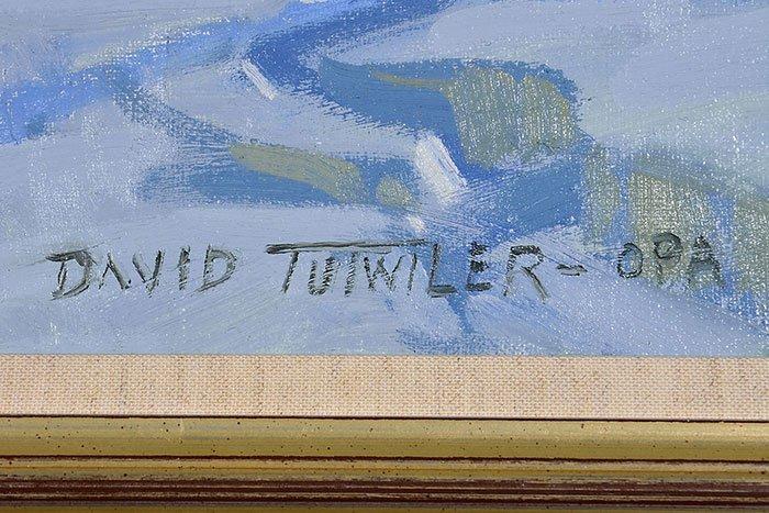 "David Tutwiler O/C train in snow, 24"" x 30"" - 4"