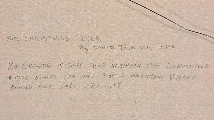 "David Tutwiler O/C train in snow, 24"" x 30"" - 5"