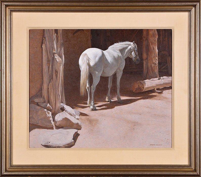 "Herbert Davidson O/C, White Horse, 20"" x 24"""