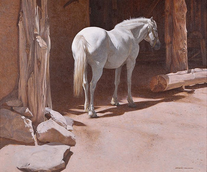 "Herbert Davidson O/C, White Horse, 20"" x 24"" - 2"