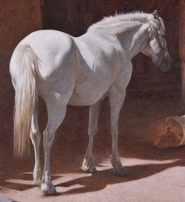 "Herbert Davidson O/C, White Horse, 20"" x 24"" - 3"