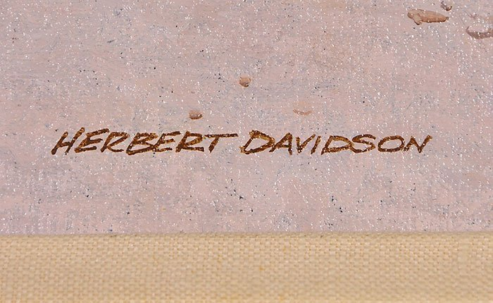 "Herbert Davidson O/C, White Horse, 20"" x 24"" - 4"