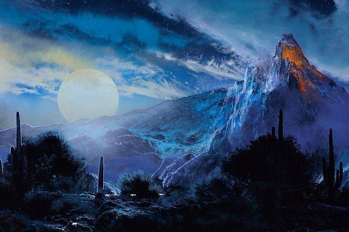 "Dale TerBush O/C, fantasy, Moon Song, 20"" x 24"" - 3"