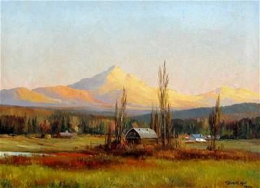 Duncan Crockford (1920-1991) Mt. Baker from Abbotsford