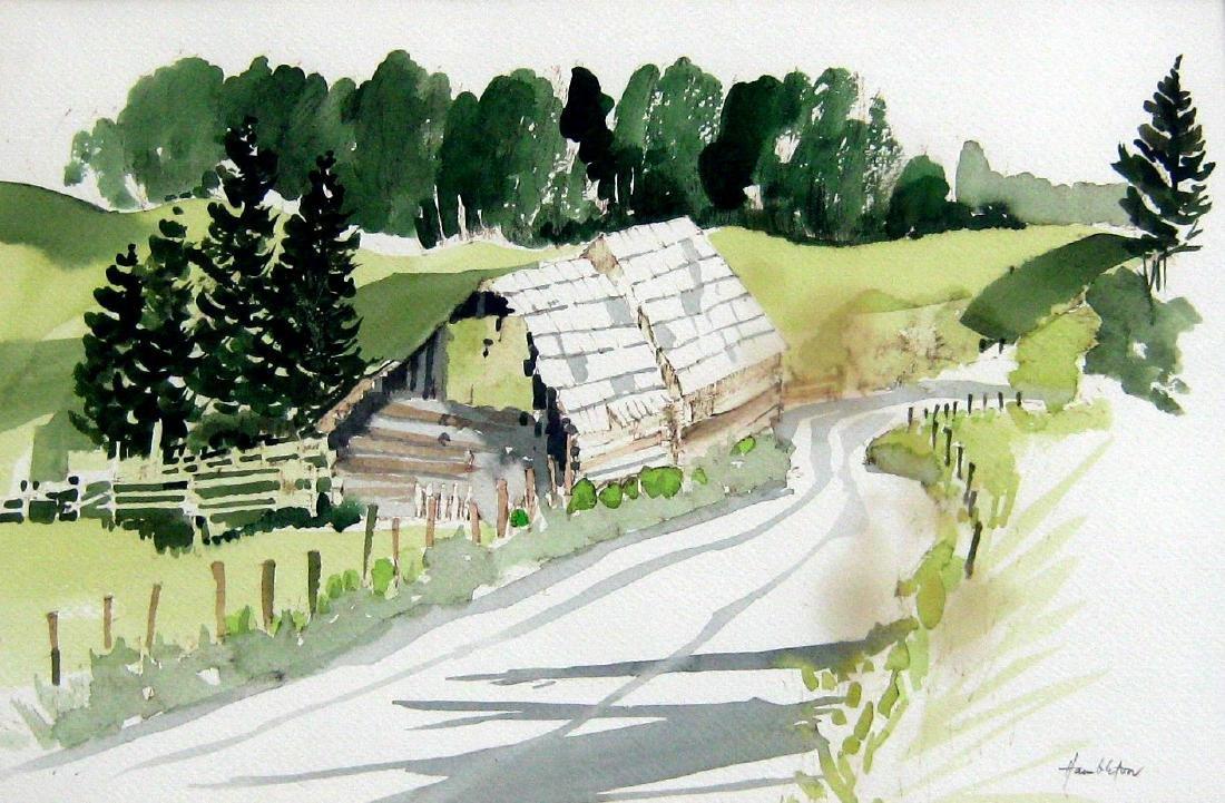 Jack Hambleton (1916-1988) Dakin's Barn, Bridge Lake