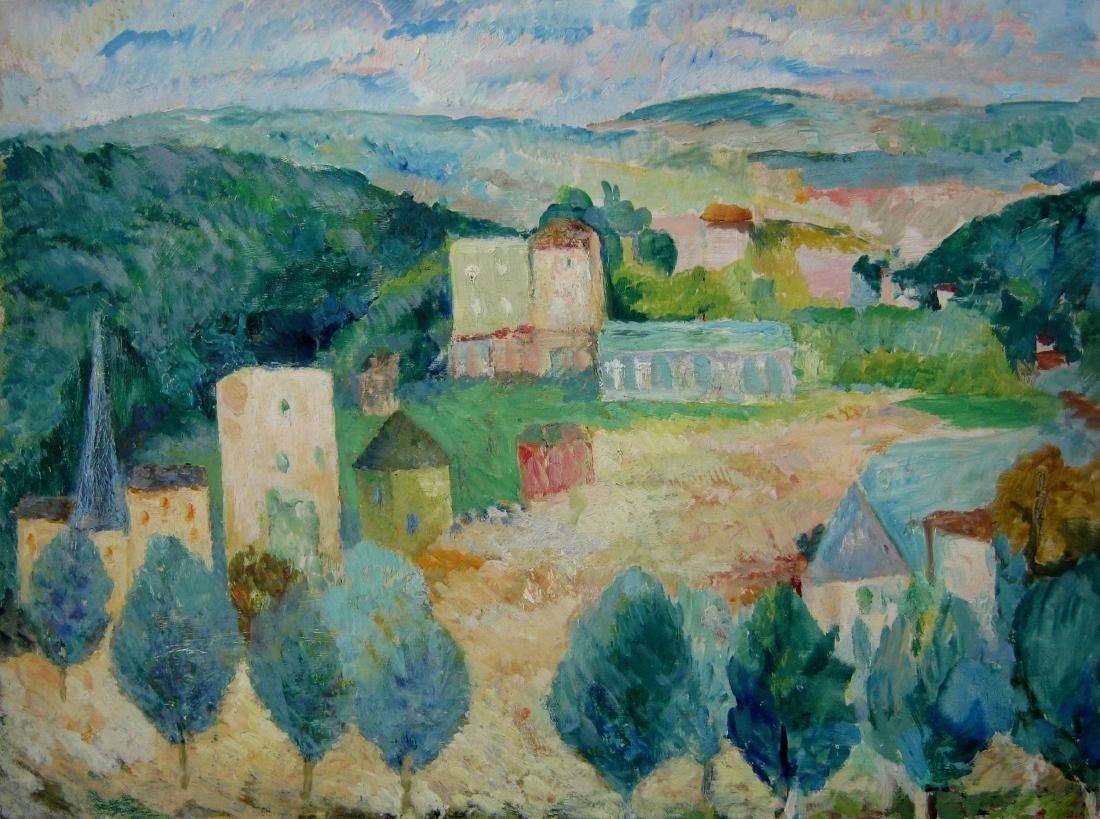 Barbara Rode (1889-1969) Landscape in Bievres, France