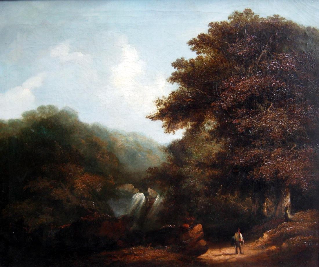 E.C. Williams (1807-1881) Peasant in a Forest Landscape