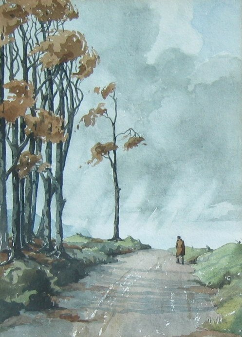 17: Stormy Afternoon, Country Lane (Channel Islands)