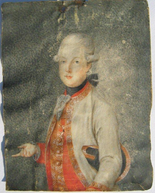 23: Portrait of Man with Hat Under Arm; Portrait of a L
