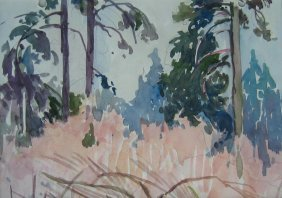 21: Mildred Valley Thornton Landscape Sketch