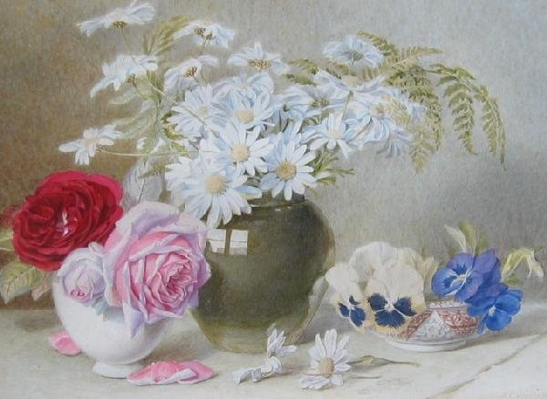 16: Still Life of Flowers and Vases