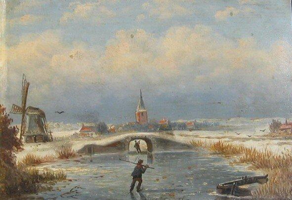 17: Skaters on Frozen River