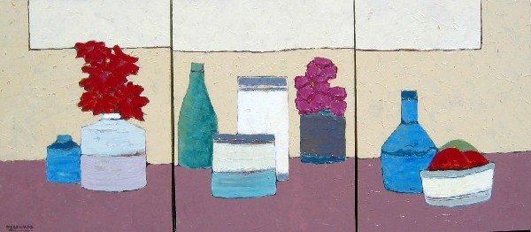 18: Thinking of Morandi (triptych)