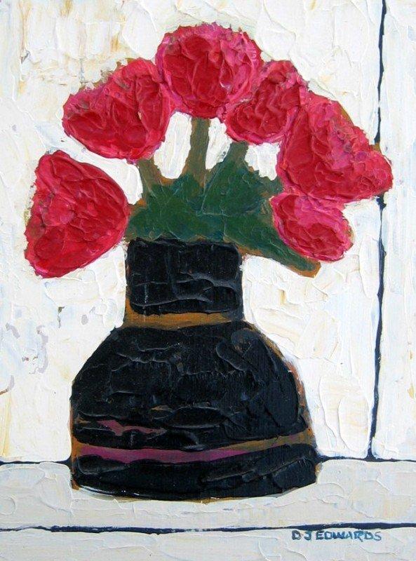 15: Old Black Vase