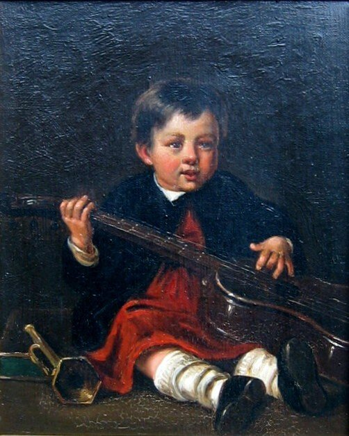 6: Baby with Rattle; Child with Guitar