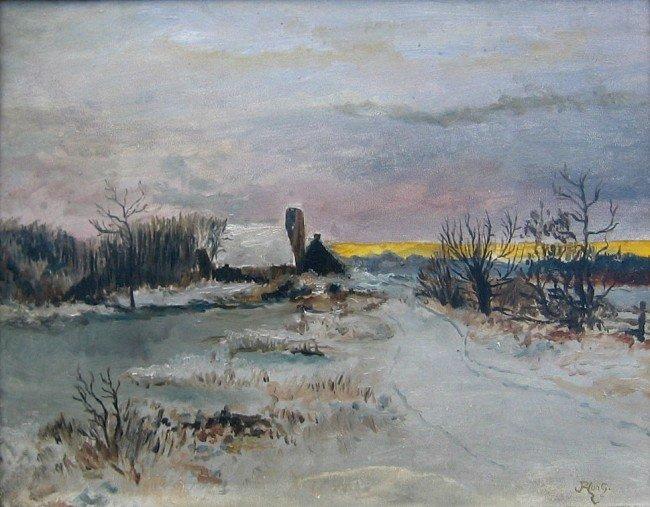 24: Farmhouse in Winter Landscape