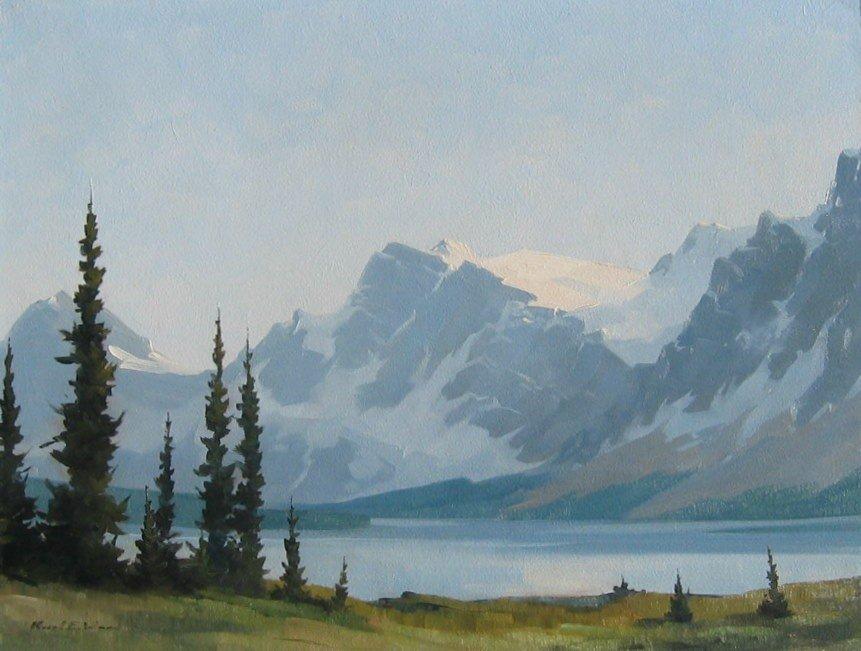 43: Bow Lake, Crowsfoot Glacier