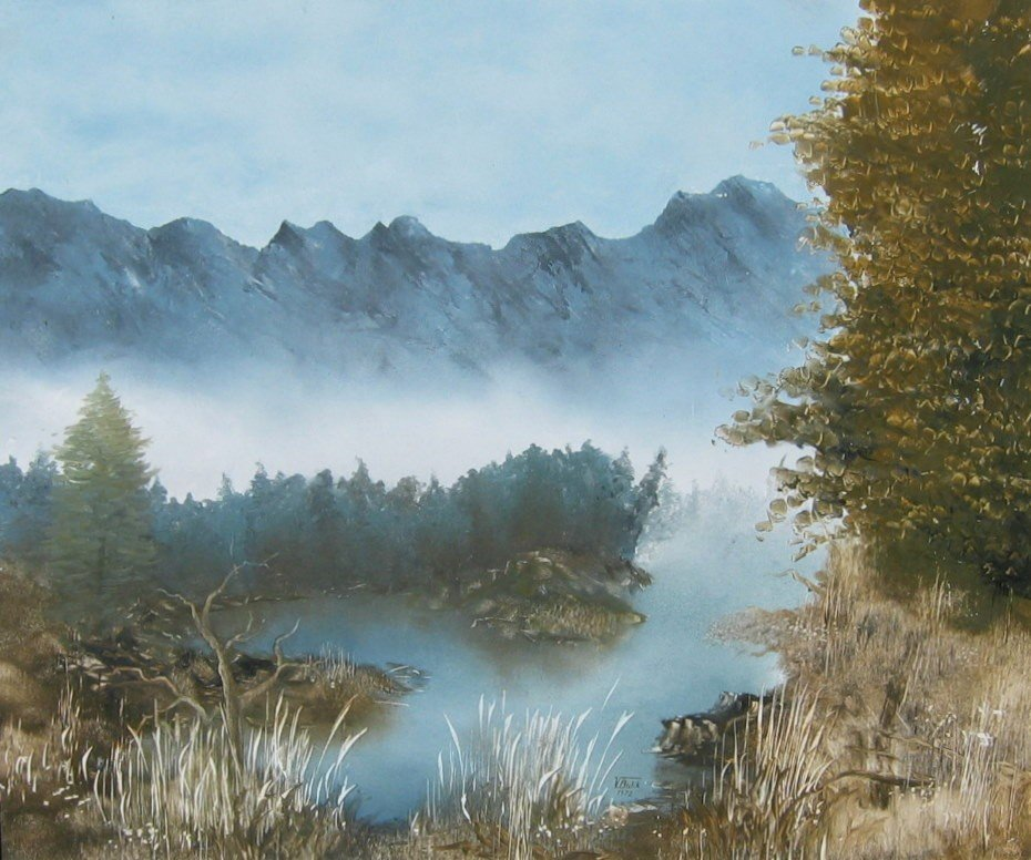 6: Woodland River in Mountain Setting