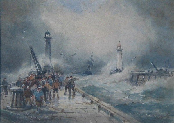 8: Rough Sea, Whitby Harbour