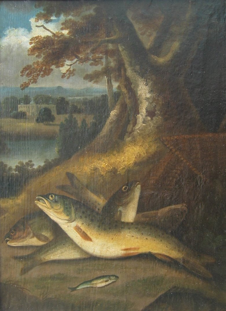 9: Fish with Abbey in Background; Fish & Eel