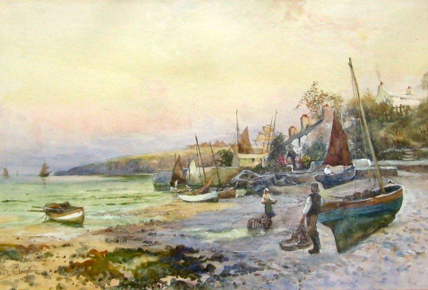 16: Fishermen on Beach