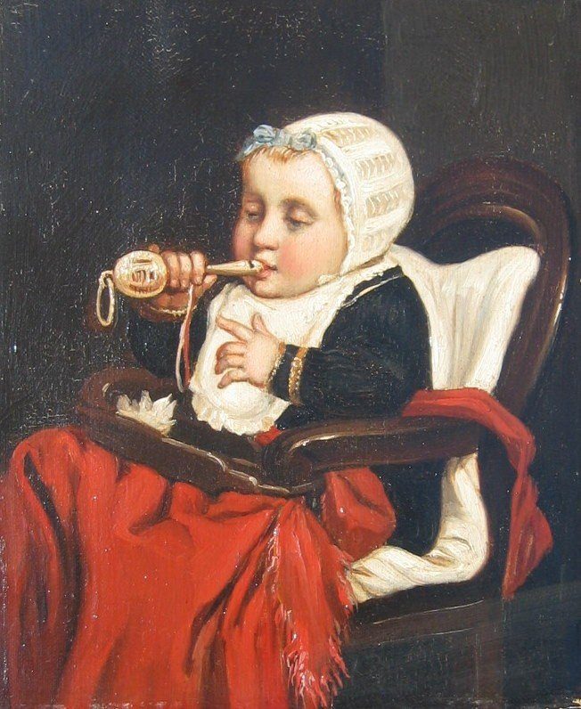 17: Baby with Rattle; Child with Guitar