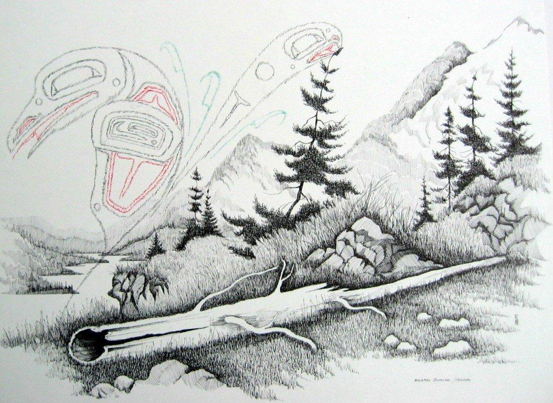 22: Untitled - Raven in Lake Landscape