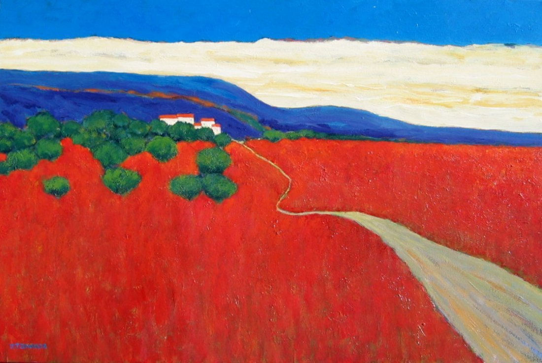 14: Red Fields, Tuscany