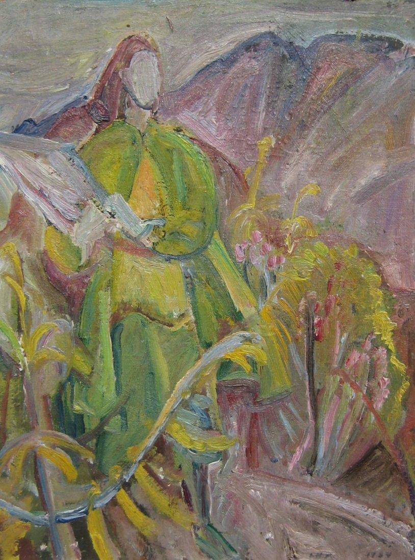 16: Margaret Carter (Mountain Landscape Verso)