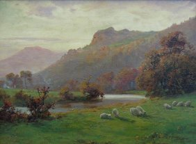 23: Sheep by River; Sheep by Mountain Stream