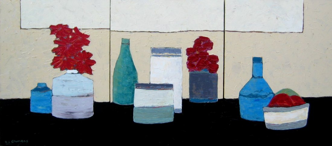 21: Thinking of Morandi (triptych)