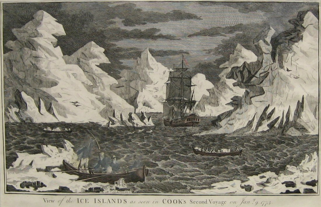 View of the Ice Islands as seen in Cook's Second Voyage