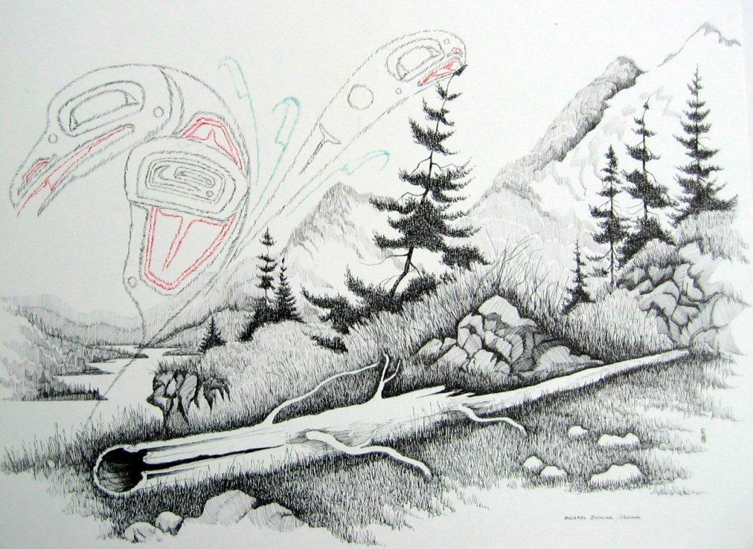 Untitled - Raven in Lake Landscape