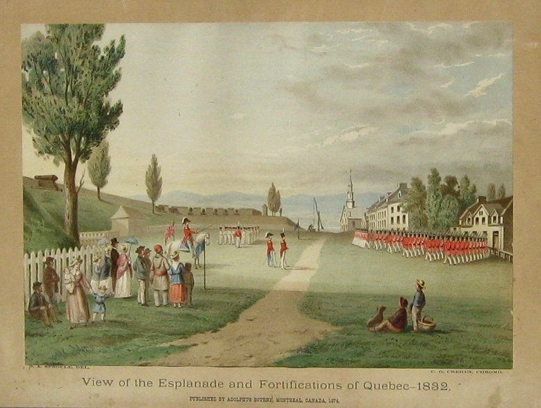 View of the Esplanade & Fortifications of Quebec - 1832
