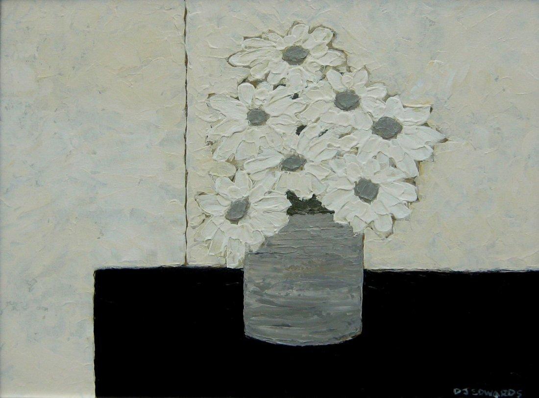 Daisies in a Grey Vase
