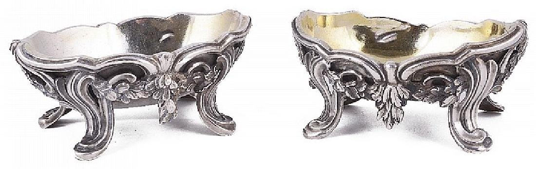 TWO ITALIAN SILVER SALT CELLARS, CARLO MICHA, TURIN,