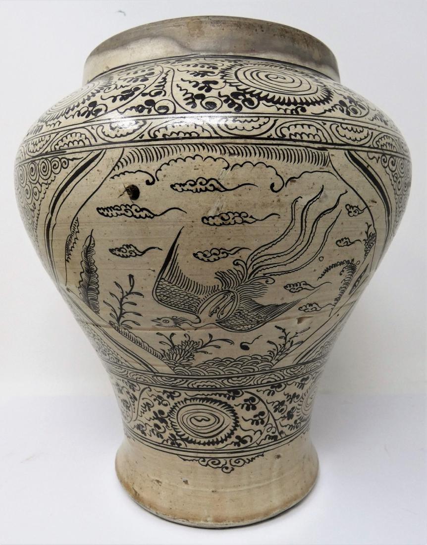 A CHINESE CIZHOU JAR  YUAN DYNASTY (1271-1368) baluster - 5