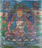 A THANGKA DEPICTING PADMASAMBHAVA (GURU RINPOCHE)