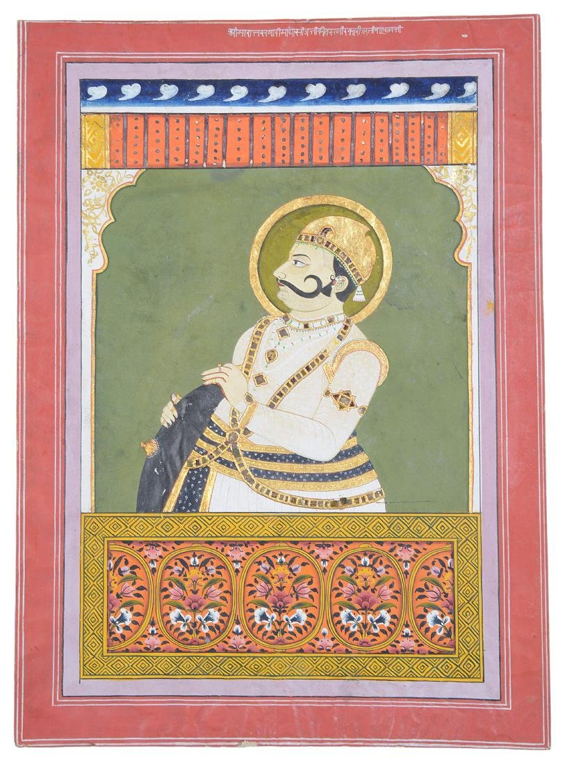 A PORTRAIT OF A RULER  RAJASTHAN  INDIA  CIRCA 1900