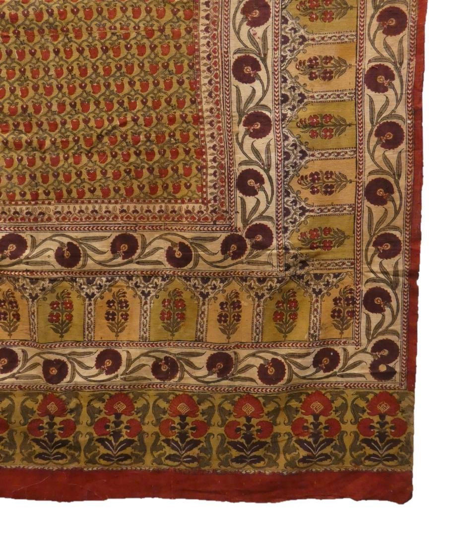A LARGE BLOCK PRINTED COTTON PANEL  PROBABLY LAHORE