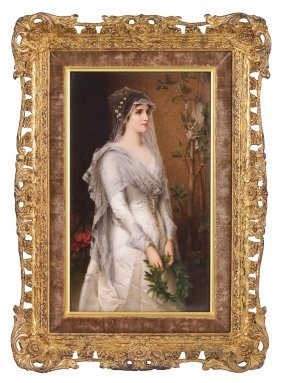 3: A BERLIN PLAQUE OF A BRIDE, LATE 19TH CENTURY finely