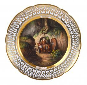 4: A GOOD GERMAN PORCELAIN CABINET PLATE, CIRCA 1830 we