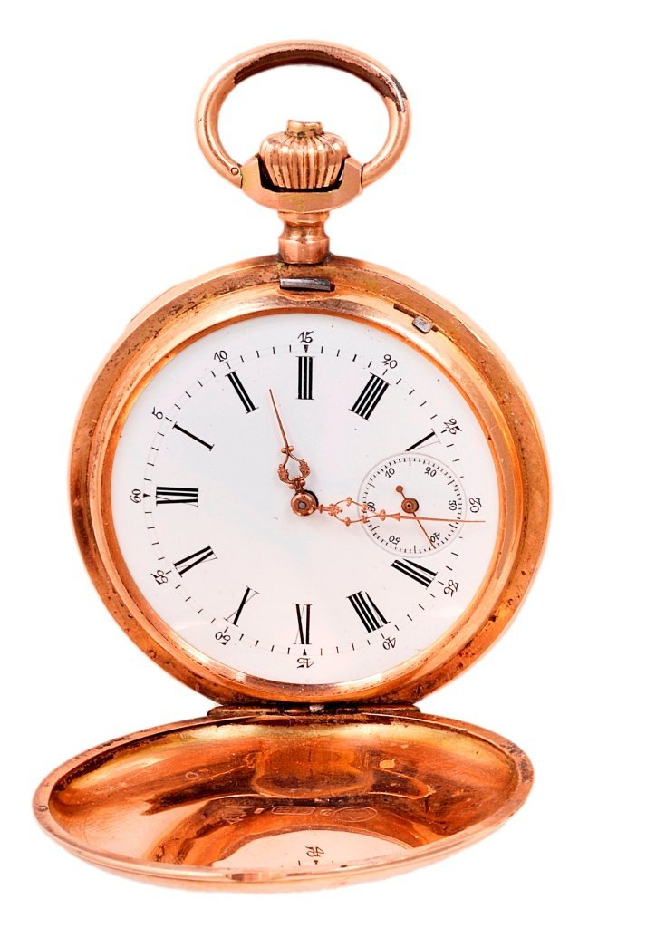 PATECK GENEVE: A GOLD HUNTING CASED POCKET WATCH, CIRCA