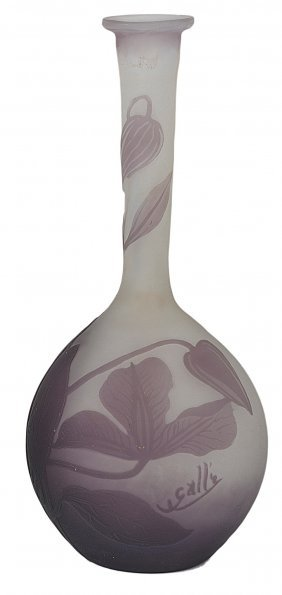 A French Cameo Glass Bud Vase, Galle, Nancy, Early 20th