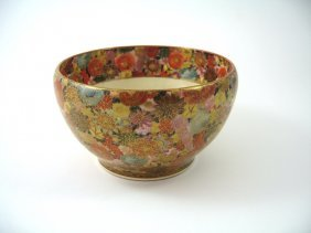 A Japanese Satsuma Bowl, Meiji Period (1868-1912)